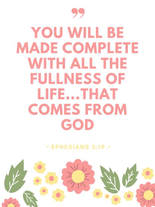 Ephesians 3:19 NLT