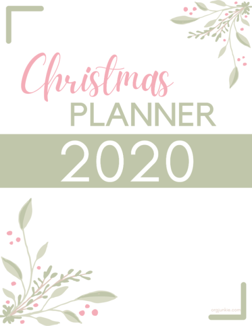 2020 Christmas Planner at I'm an Organizing Junkie blog