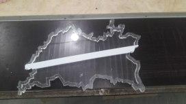 Карта Татарстана из оргстекла