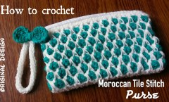 How to Crochet the Moroccan Tile Stitch Purse