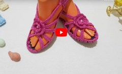 Yazlık Örgü Sandalet Yapımı