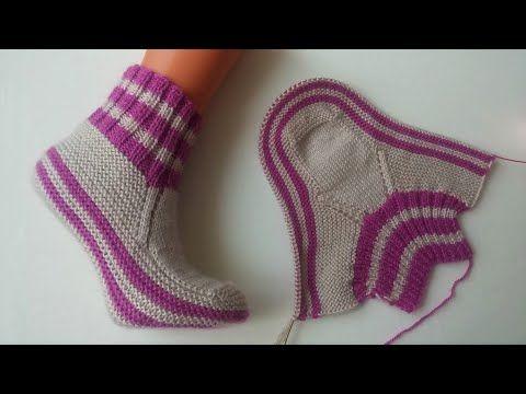 En severek giydiğim patik modeli/ kolay bayan patik modelleri / iki şiş ile bayan çorap