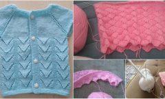 Küçük Çamlar Bayan ve Bebek Yelek Hırka Elbise Örgü Modeli Yapılışı
