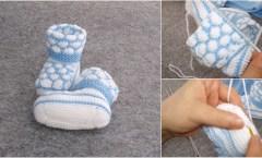 Bonbon Şekeri Örgü Modeli Bebek Patiği Yapımı