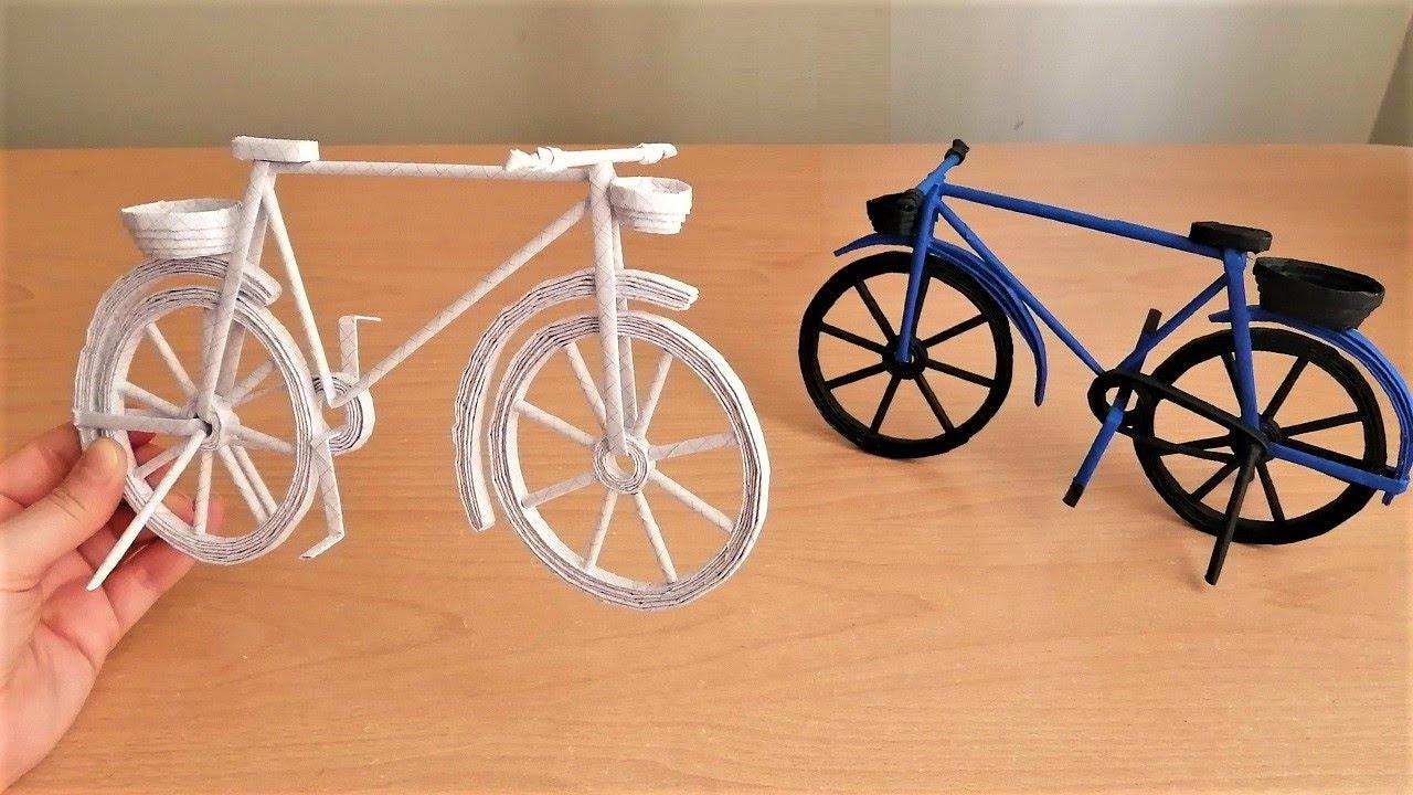 How to Make Paper Cycle – Paper CraftsKağıttan Bisiklet Nasıl Yapılır?