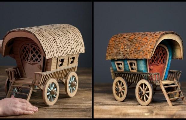 DIY Vardo Wagon Using Cardboard