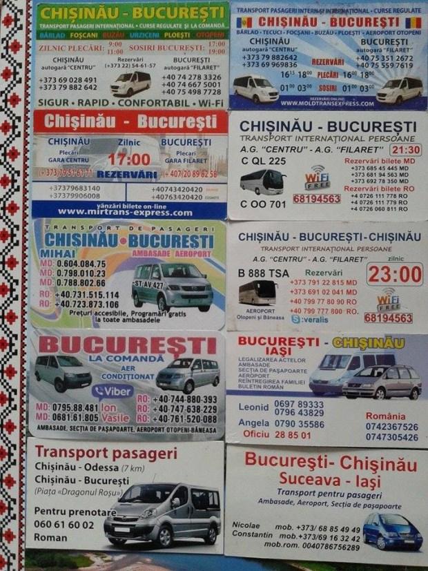 transport chisinau bucuresti