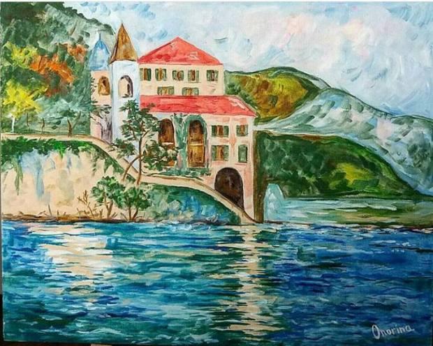 peisaj italian pictura