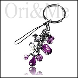 Boysenberry Keyring Mobile Charm