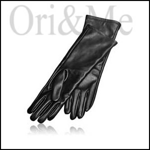Delicate Imitation Leather Gloves
