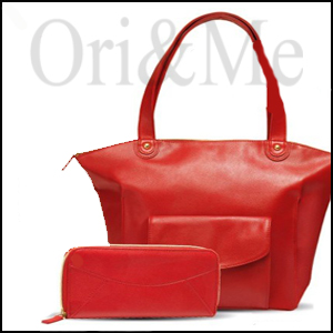 Bright Red Purse and Wallet
