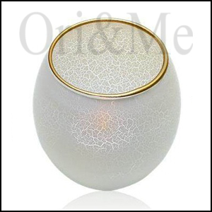 Opulent Icy LED Candle with Holder