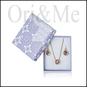 Lupine Necklace & Earring