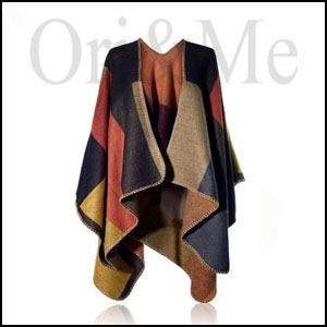 Country Saddle Blanket Poncho