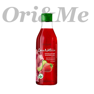 LOVE NATURE Exfoliating Shower Gel Refreshing Strawberry & Lime