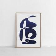 Shape Study – Bleu de prusse II