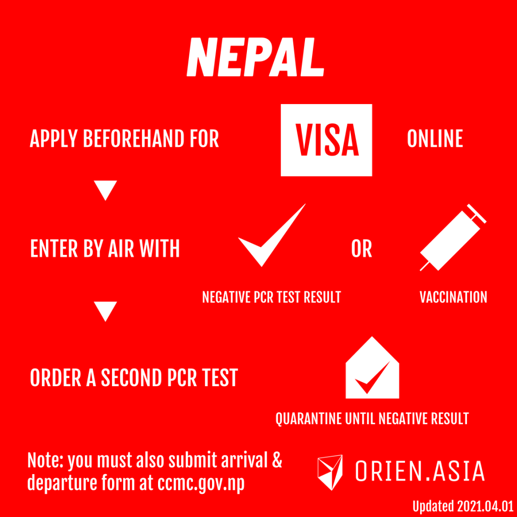 Updated travel rules for Nepal