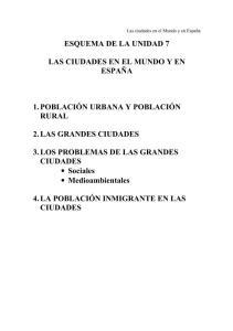 TEMA 7 LAS CIUDADES EN EL MUNDO Y EN ESPAÑA