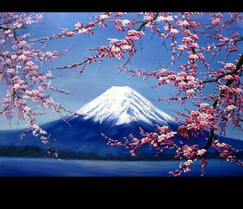 Chinese Oil Paintings Around Mt Fuji