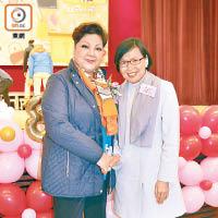 許曉暉(右)自爆平時鍾意睇「肥媽」(左)嘅飲食節目。