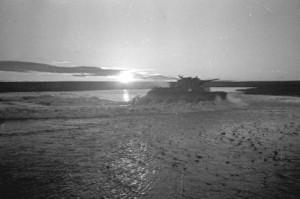 Soviet tanks cross Khalkhin-Gol. Source: wikipedia.org