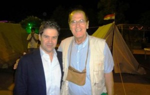Newly appointed Syrian Minister of Tourism Bishr Riyad Yazigi (left) with the author