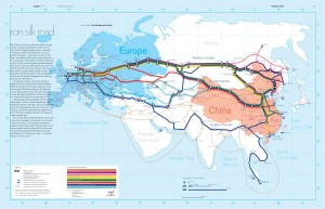 One of the dimensions of Eurasian integration: Iron Silk Road project map.