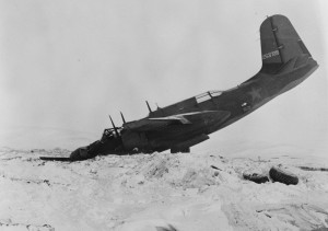 """South American bomber A-20 """"Boston» (Douglas A-20 Havoc/DB-7 Boston), crashed at the airport in Nome (Nome) in Alaska during the distillation in the Soviet Union under the Lend-Lease."""