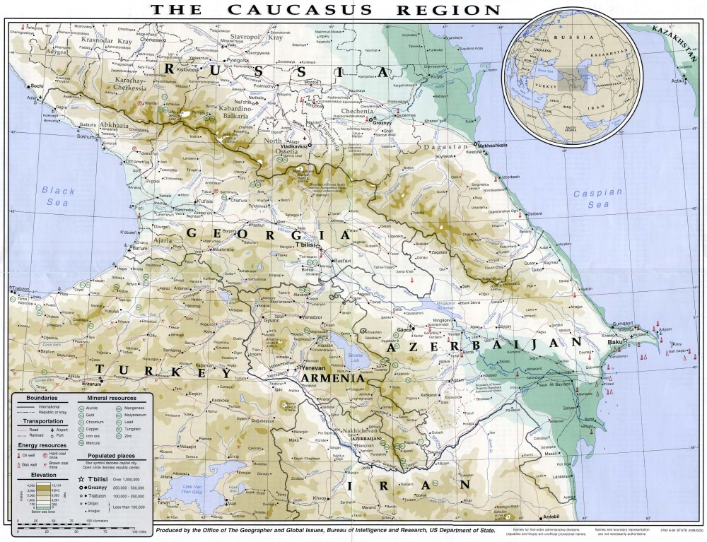 Caucasus in 1994 map