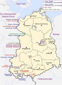 German Democratic Republic map