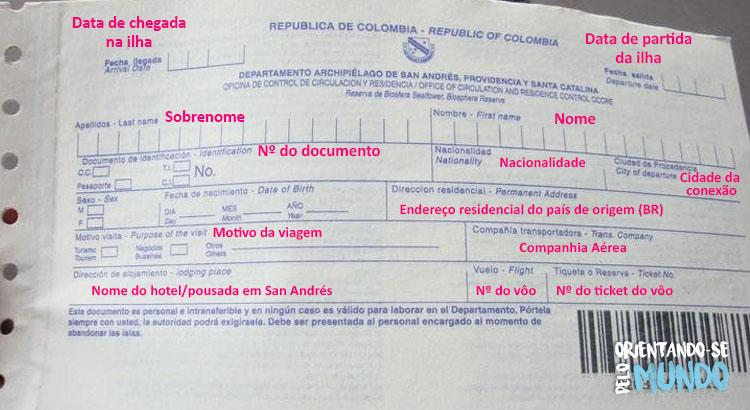 Image result for tarjeta de turismo san andres 2017