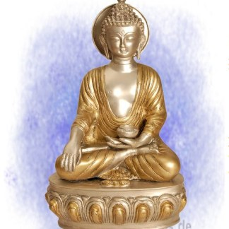 Buddha Akshobhya teilversilbert