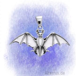 Anhänger Fledermaus aus 925-Silber
