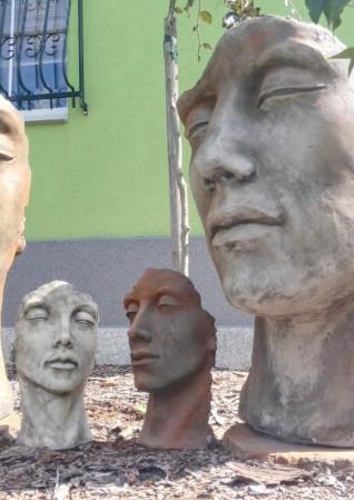 """Gesicht Mann Edition Oxid klein3 - Gesicht """"Mann"""", Steinguss, Edition Oxid, Klein"""