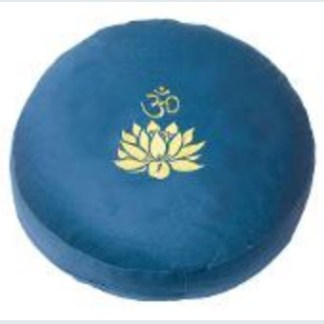 Meditationskissen Lotus Om blau