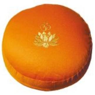 Meditationskissen Lotus Om orange