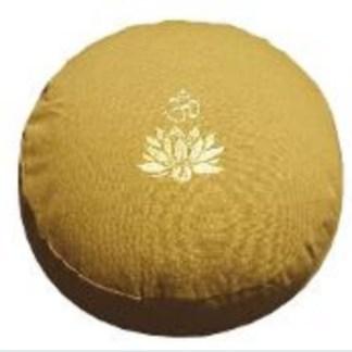 Meditationskissen Lotus Om senfgelb