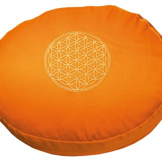 Meditationskissen mit Inlet BDL rund orange