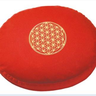 Meditationskissen mit Inlet BDL rund rot