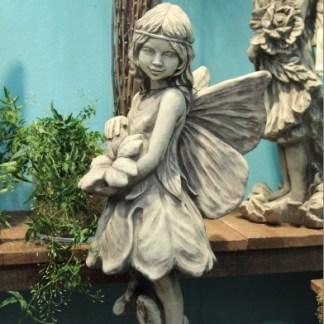"""Flower Fairy Schlüsselblume - Flower Fairy """"RAINFARN"""", Blumenfee aus Steinguss"""
