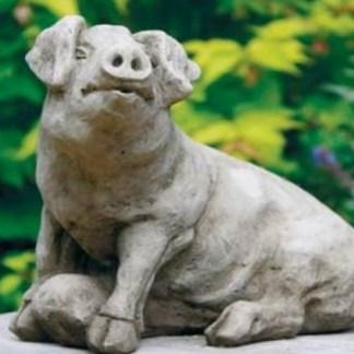 Schwein Alois - Schwein Alois sitzend
