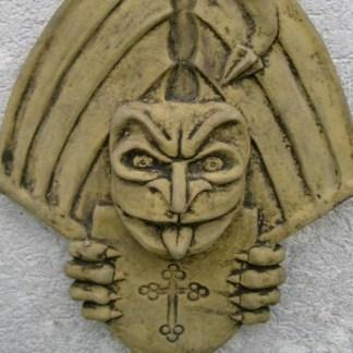 Relief Dragon Crest mit Wappen - Relief Teufelszwerg wandhängend