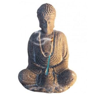 Buddha in Meditation Sandstein grau 10cm