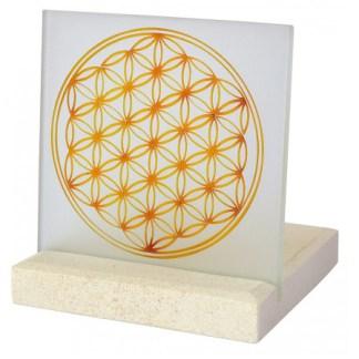 Lichtobjekt Blume des Lebens 10x13cm