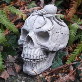 Totenkopf Skully mit Spinne