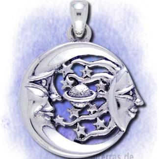 Anhänger Amulett der Gestirne aus 925-Silber