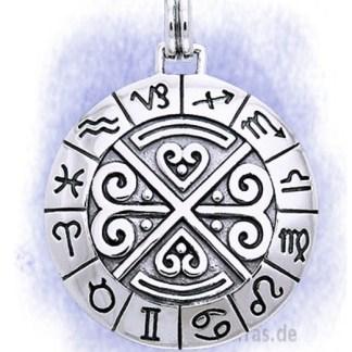 Anhänger Astro Schild aus 925-Silber