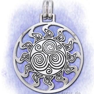 Anhänger Keltische Spiral-Sonne aus 925-Silber