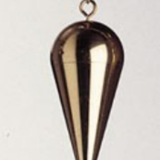 Pendel schlicht Messing vergoldet mit Kette