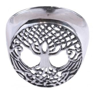 Ring Keltischer Lebensbaum aus 925 Silber